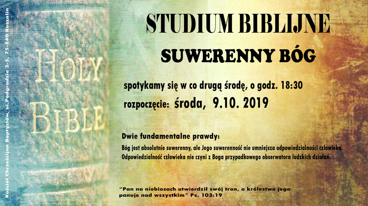 SUWERENNY BÓG – studium biblijne